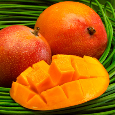 Tree-ripened mangoes