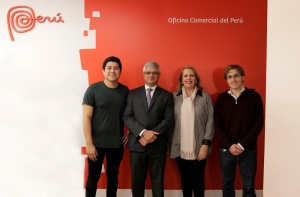 Representatives of the Peruvian gastronomic day